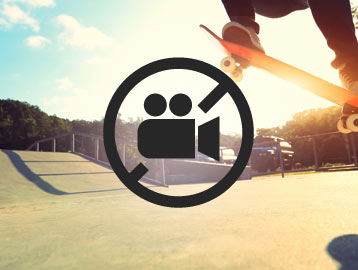 Skatepark with Skateboarder and Videologo